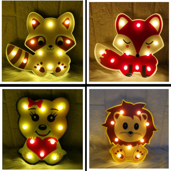 Manufacturers directly for led painted fox panda lion animal shape decoration lamp lamp small night lamp a generation hair