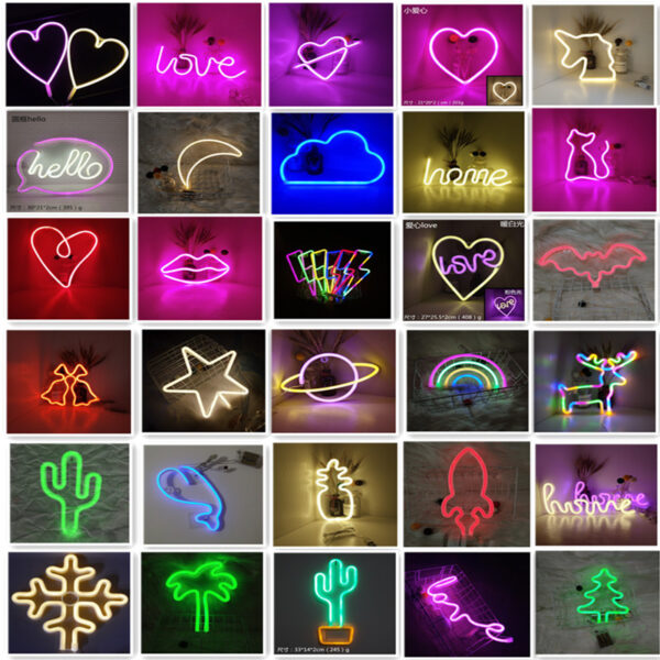Manufacturers directly for LED moon clouds neon ins lightning rainbow shape decorative lights with small night lights