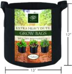 AROMA TREES Round Plant Grow Bags Heavy Duty Thickened Fabric Pot Grow Bags with Handles for Gardening Pots, Aeration Container, Planters Healthy Root System (10-Pack 7 Gallon)
